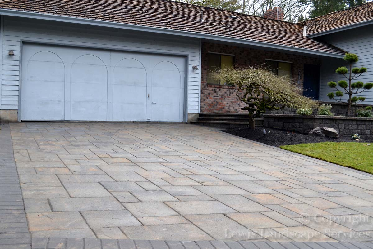 Close-up of Paver Driveway We Installed in Beaverton