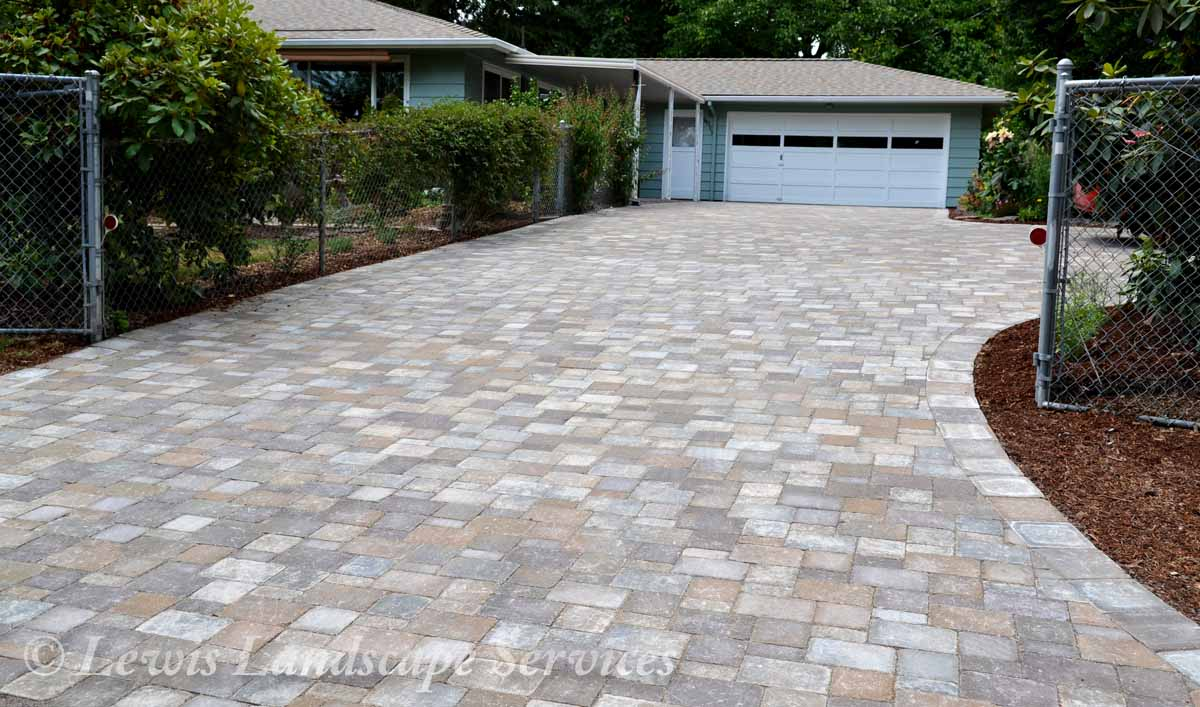 Paver Driveway We Installed in Tigard