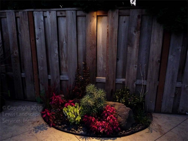 Down Lighting or Moonlighting Effect on a Nice Planting Area at This Home in Beaverton, OR