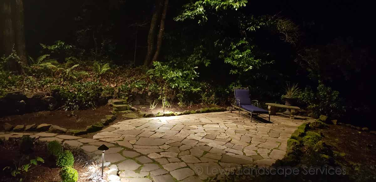 Moonlighting / Downlighting of a Patio at a Lighting Job we did in Lake Oswego