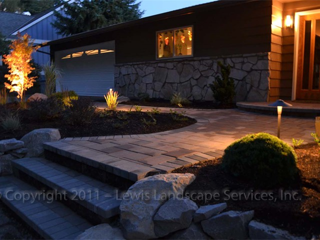 Paver Front Entry & Steps