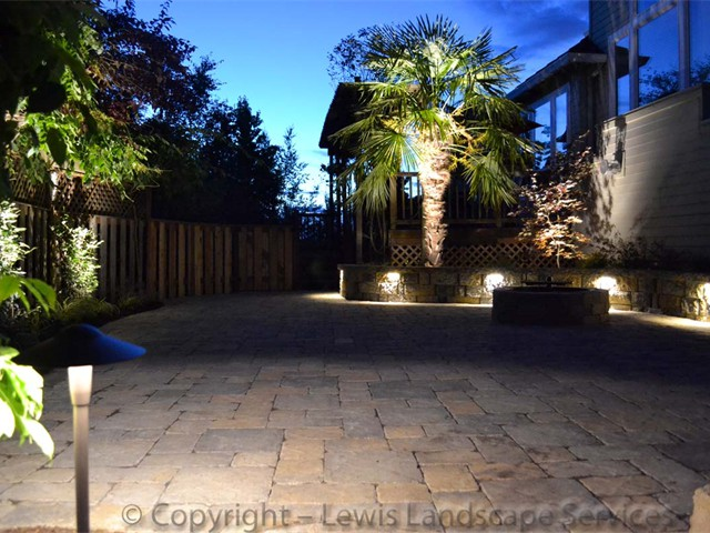 Paver Patios Accented With Other Great Features