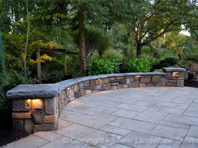 Paver Patios With Available Seating Wall Lewis Landscape Services