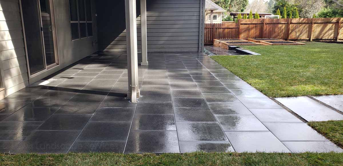 Paver patio installation in Tigard, Oregon
