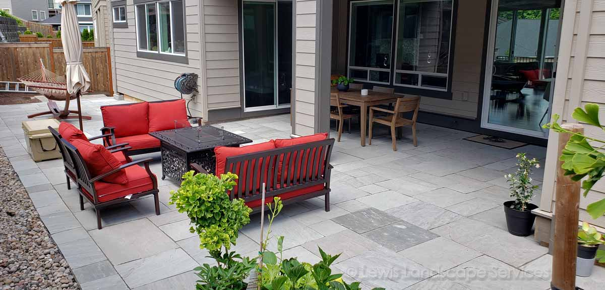 Natural Stone Patio In Beaverton OR