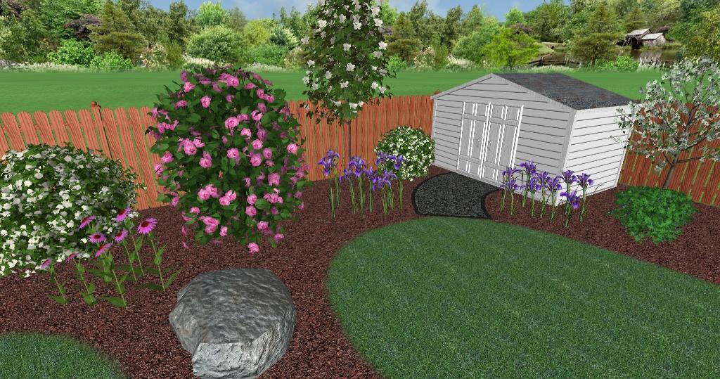 Landscape Design Plan 3D Rendering