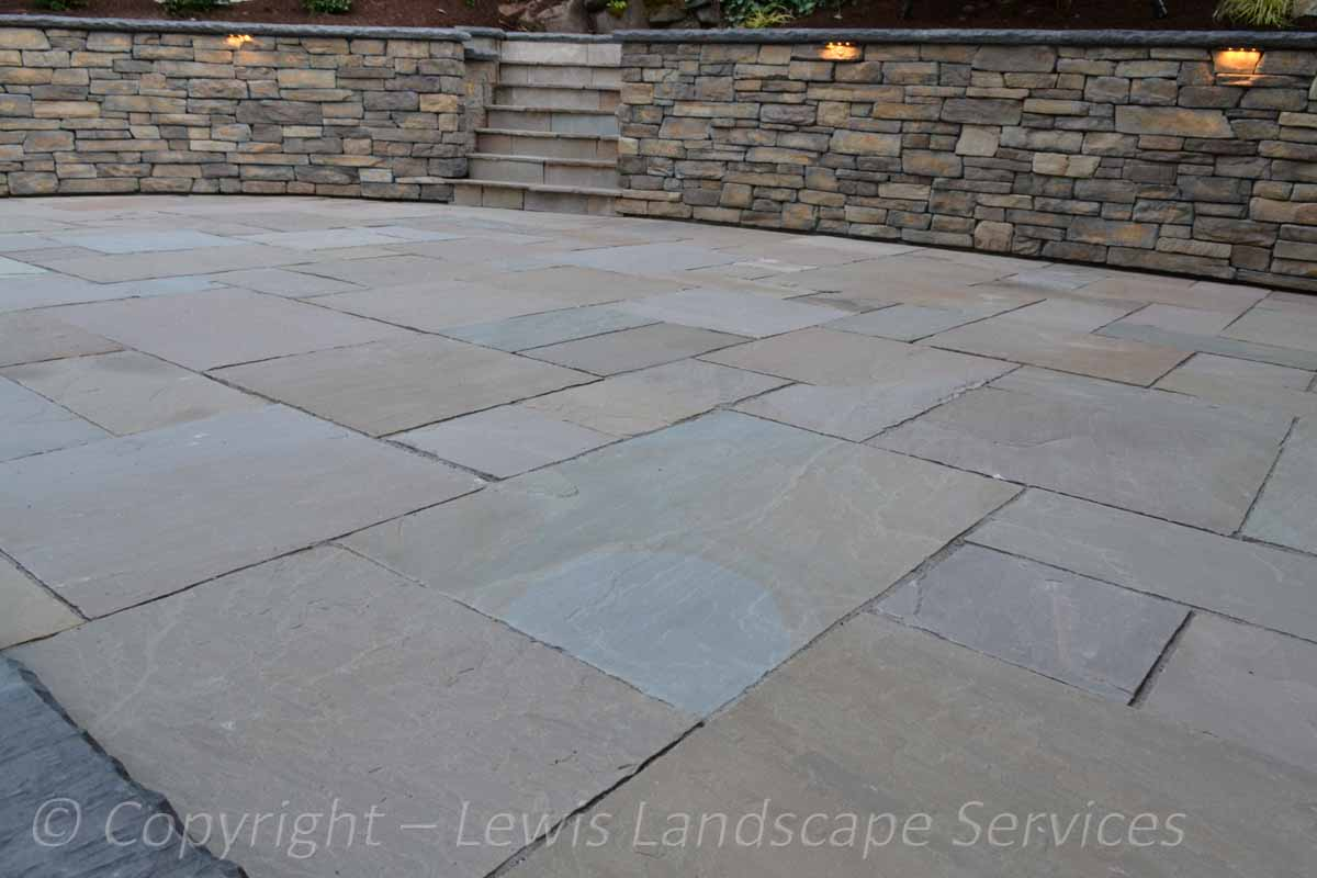 Patio Made with Stone Pavers by Natural Paving USA