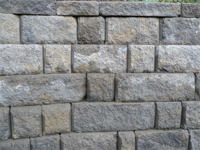 Close-Up of Segmental Retaining Wall Block