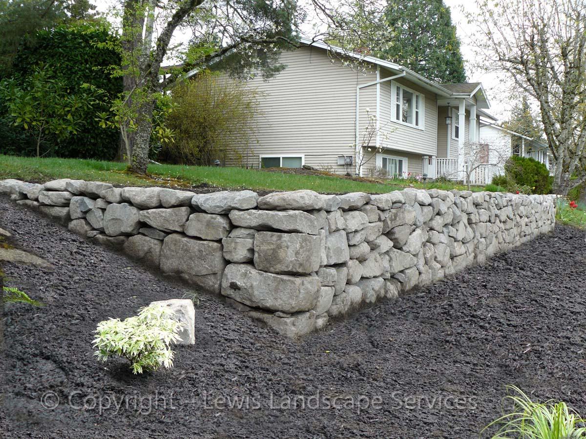 Basalt Dry Stack Rock Wall