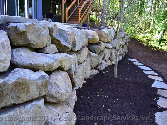 Large Boulder Rock Wall