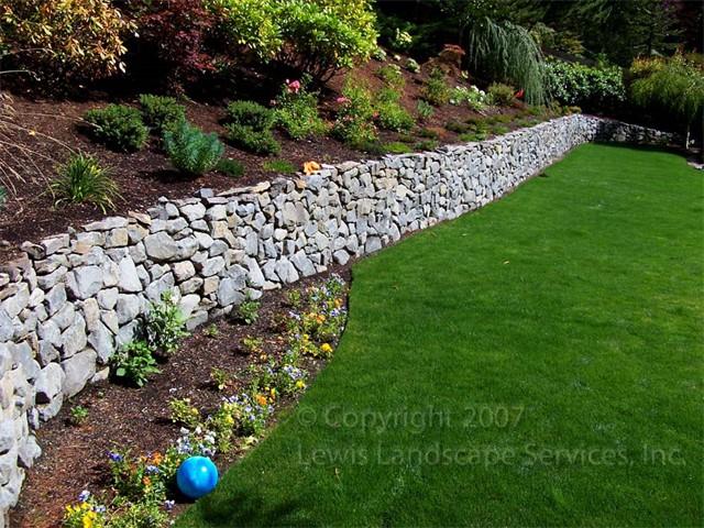 Basalt Dry-Stack Rock Wall