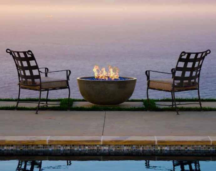 Small Concrete Fire Bowl (Gas)
