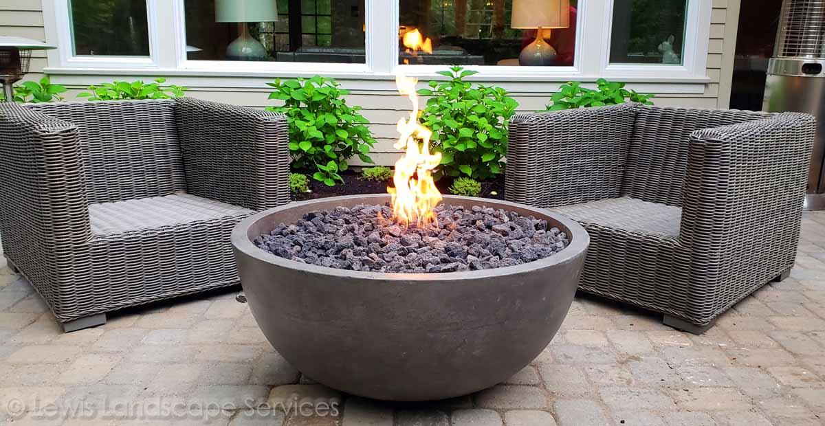 Back Yard Concrete Fire Bowl Fire Pit