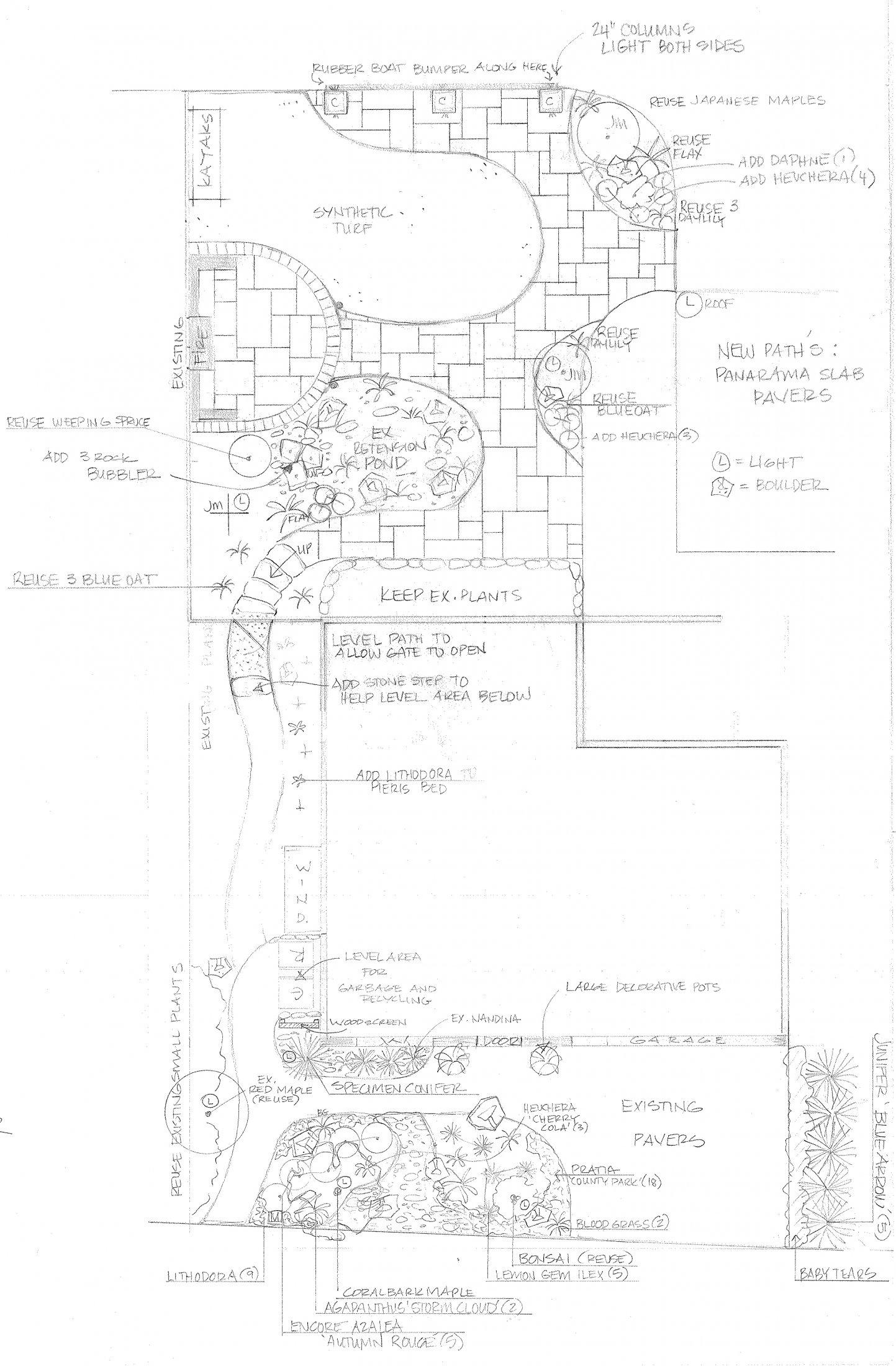 Landscape Design Plans Front & Back