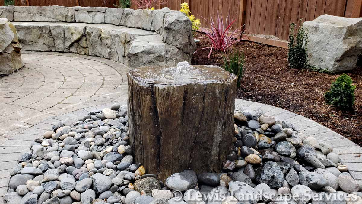 Custom Tree Stump (Concrete) Bubbler Fountain
