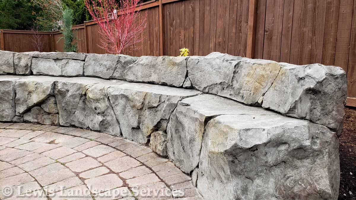 Stone Seat Wall/Bench (Concrete, actually)