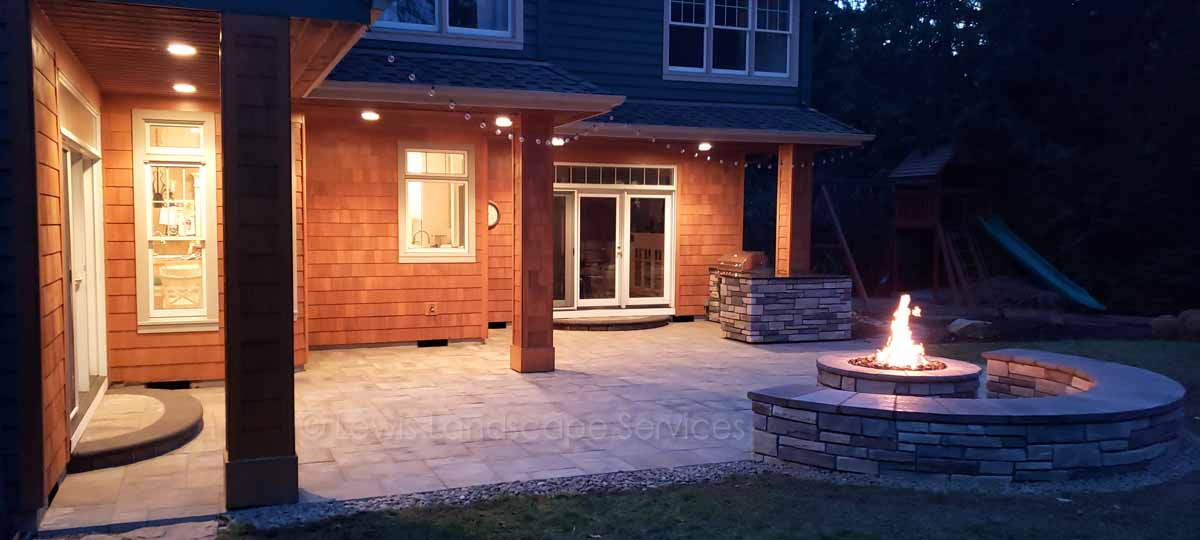 Paver Patio, Fire Pit, Seat Wall, Outdoor Kitchen
