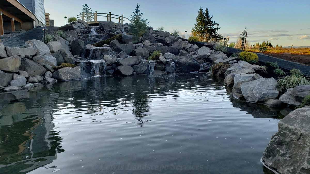 Large Waterfall & Pond We Built in Hillsboro