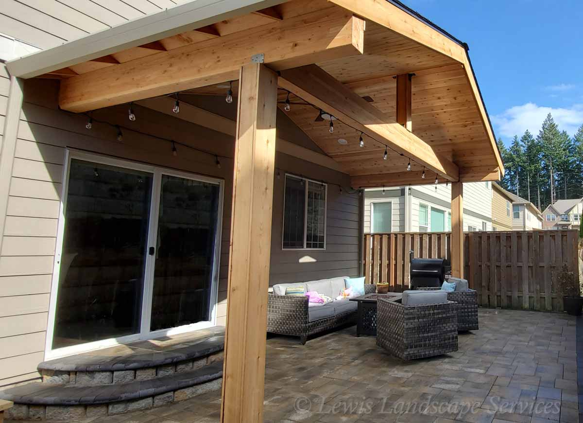 Open Gabled Roof Structure in Beaverton Oregon