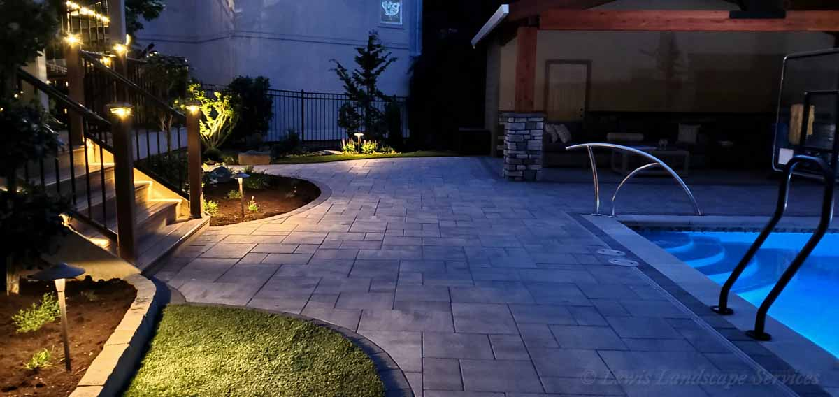 Pathway Lighting We Installed Around a Patio We Built in Beaverton