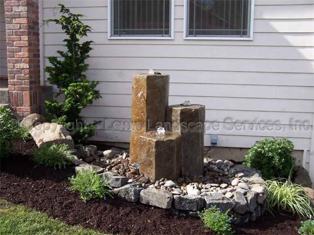 Rock Column Bubbler Fountains