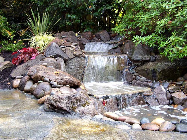 Pondless Waterfalls for Safety and Less Maintenance