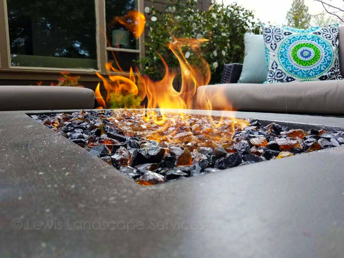 Concrete Natural Gas Fire Table