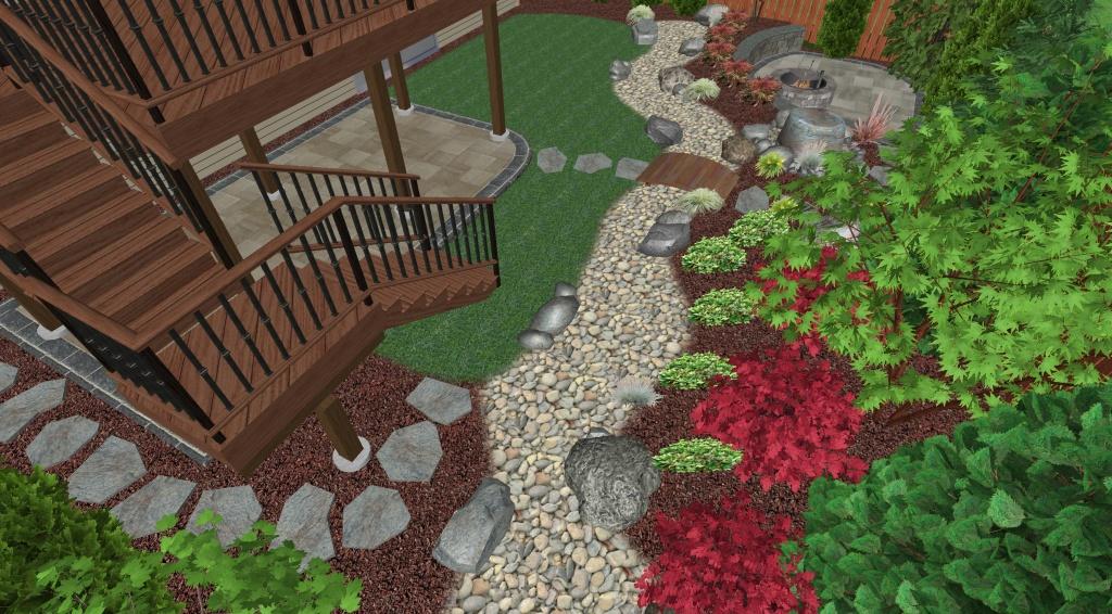 Landscape Design Plan - Perspective View 4