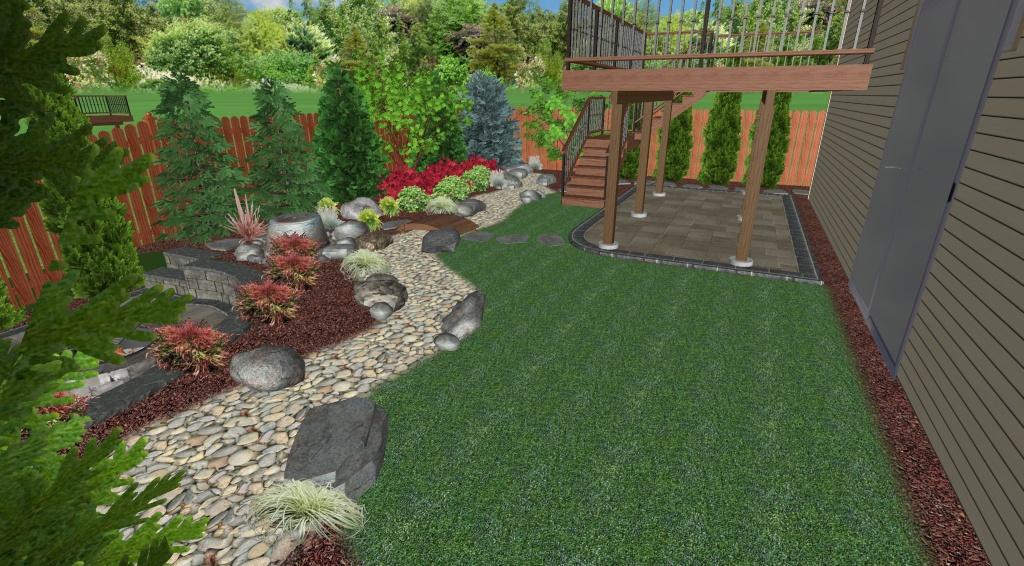 Landscape Design Plan - Perspective View 3