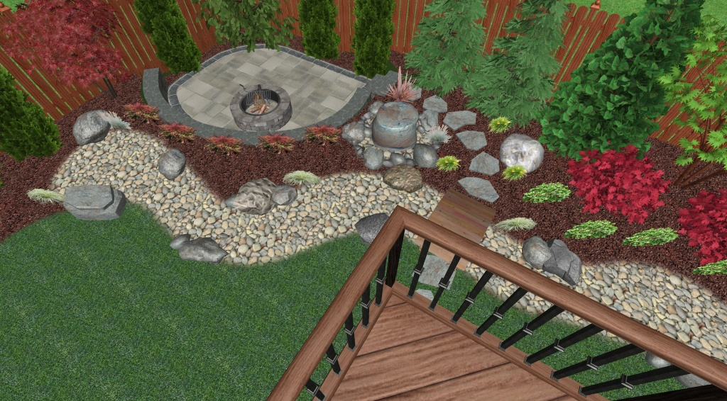 Landscape Design Plan - Perspective View 2