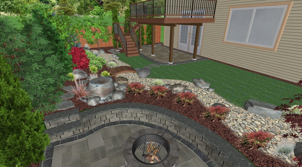 Landscape Design Plan - Perspective View 5