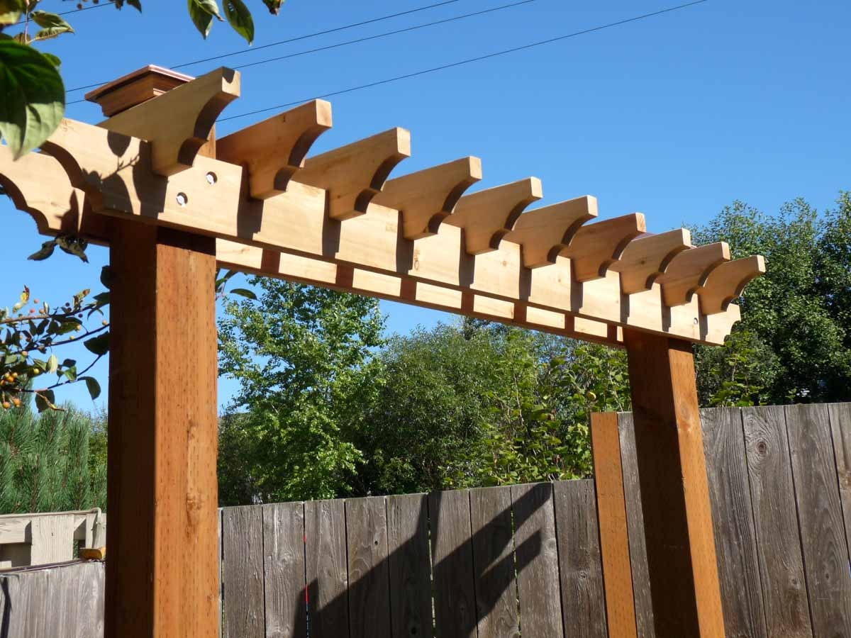 Custom Built Wood Arbor