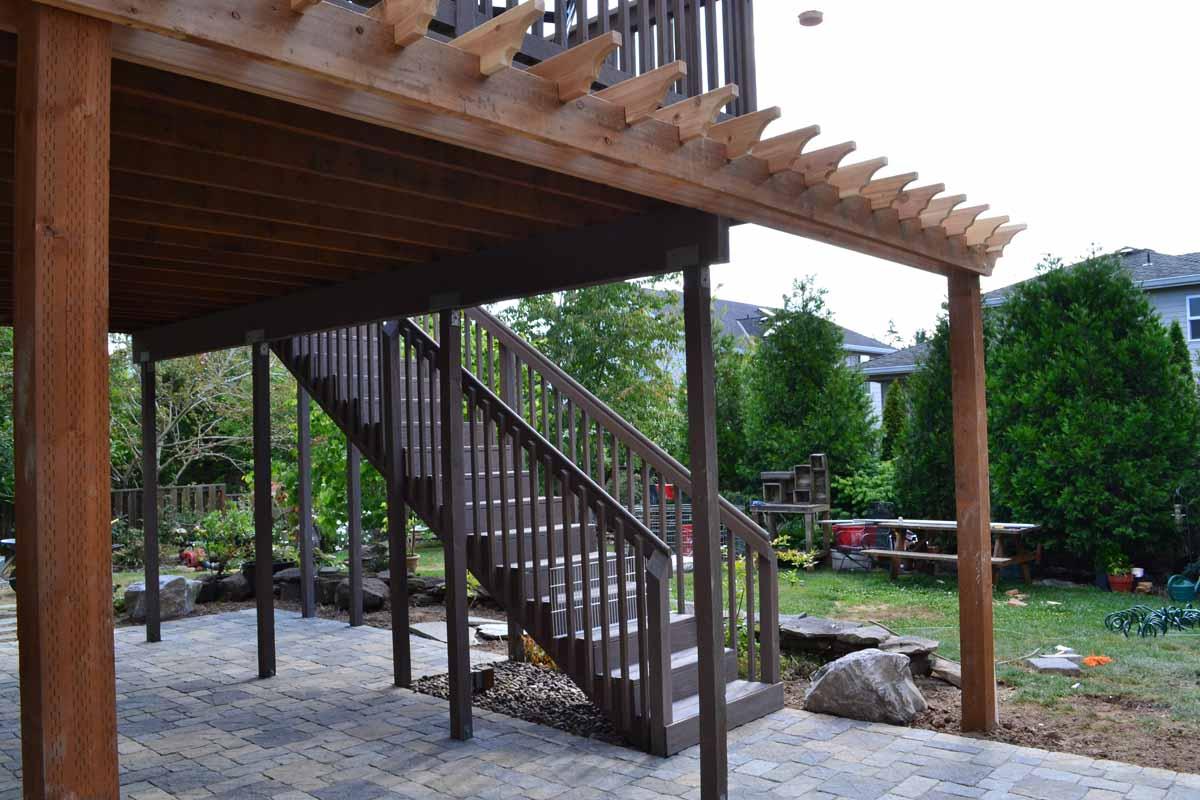 Custom Built Wood Arbor