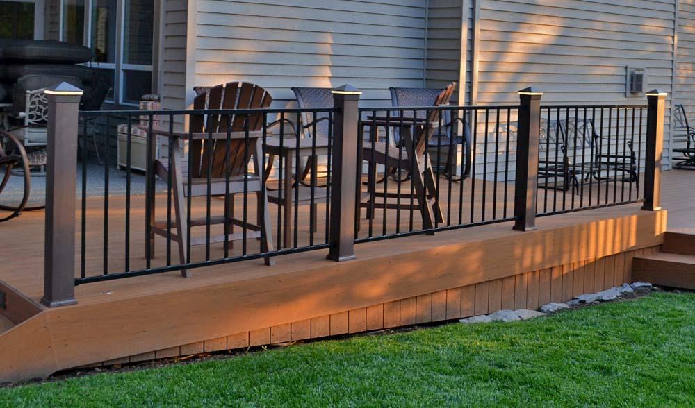 Iron Railing & TimberTech Deck we built in Tigard Oregon Deck Builders