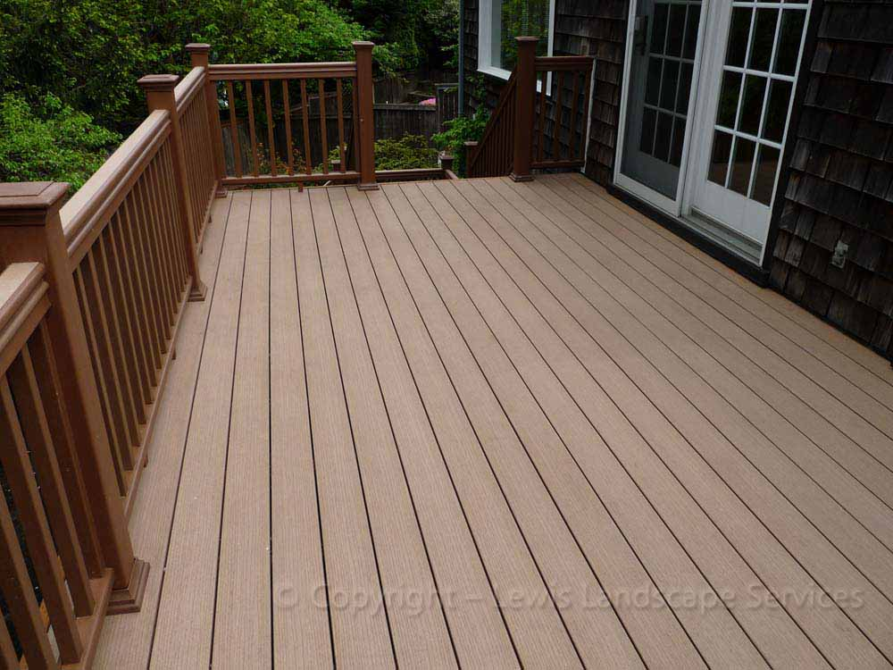 TimberTech Deck at one of our deck installations in Portland Oregon