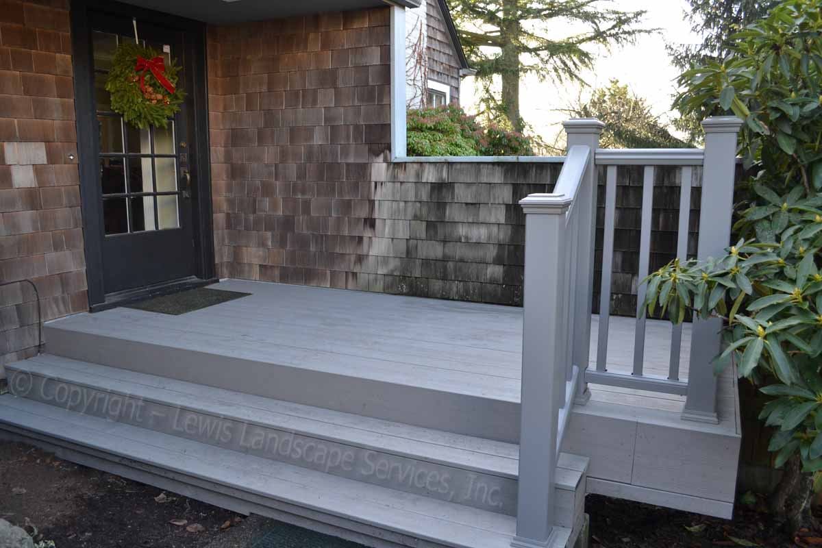 TimberTech Decking at one of our deck installations in Portland, OR