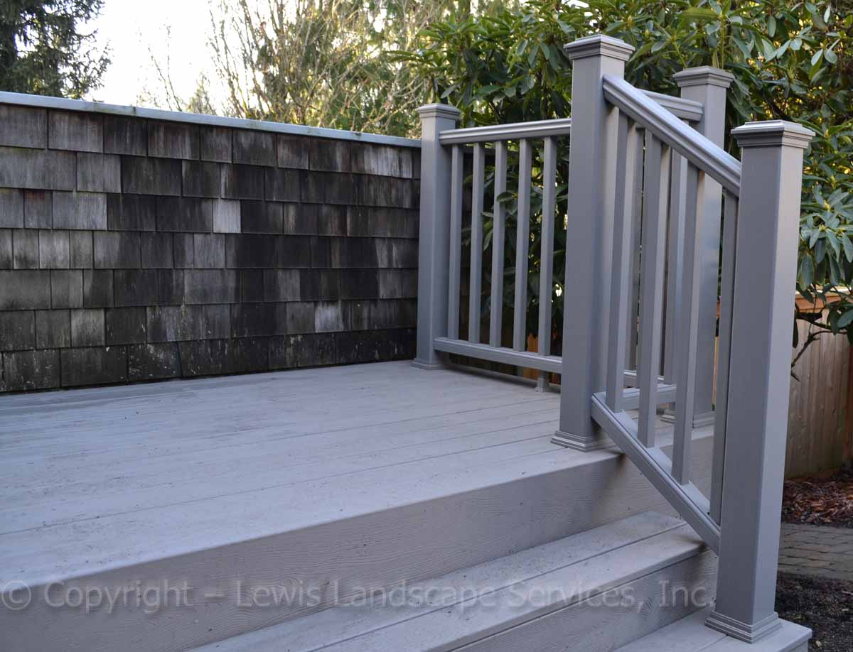 TimberTech Deck & Steps at one of our deck installations in Portland, OR
