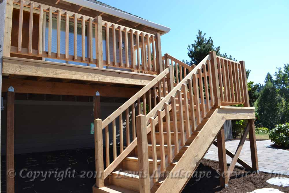 Cedar Deck & Steps from one of our Portland Oregon Decking Installation Jobs