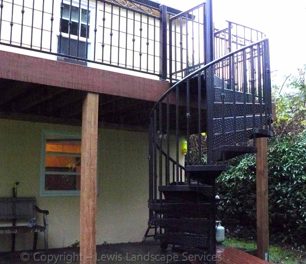 TimberTech Deck & Decorative Iron Staircase Installation in Portland, OR