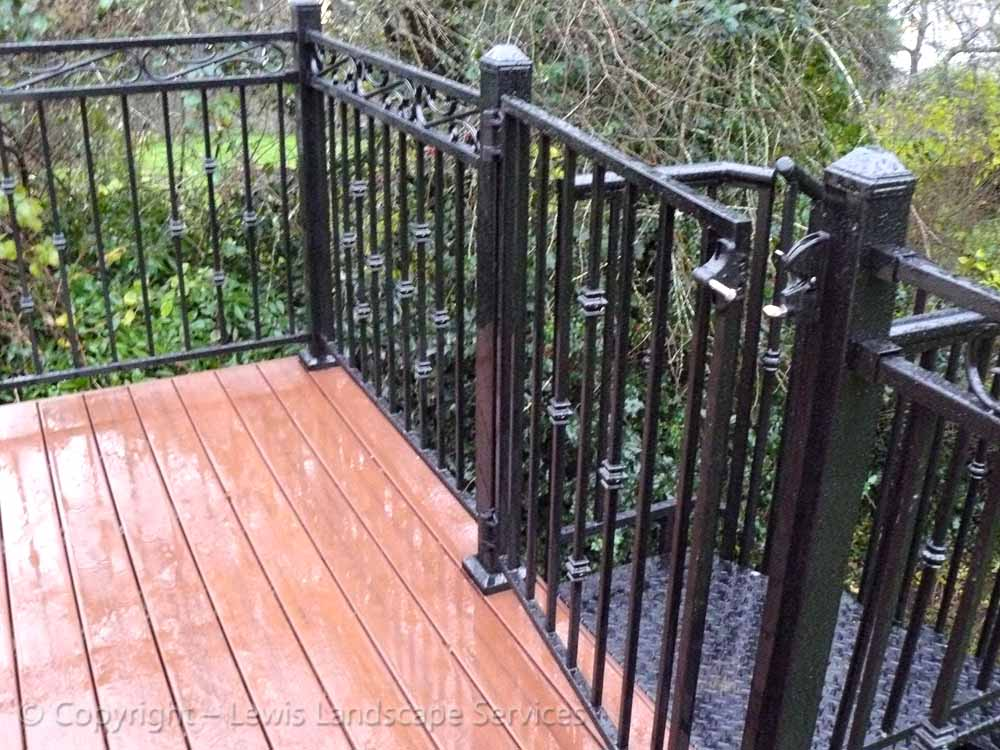 Iron Railing on TimberTech Deck we installed in the Beaverton, OR area