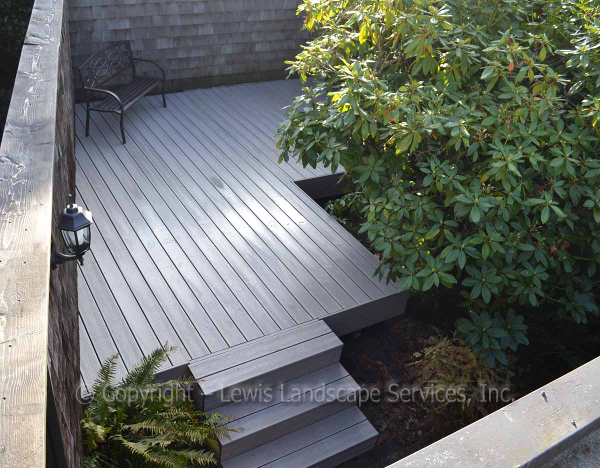 TimberTech Deck at one of our deck installations in Portland, OR