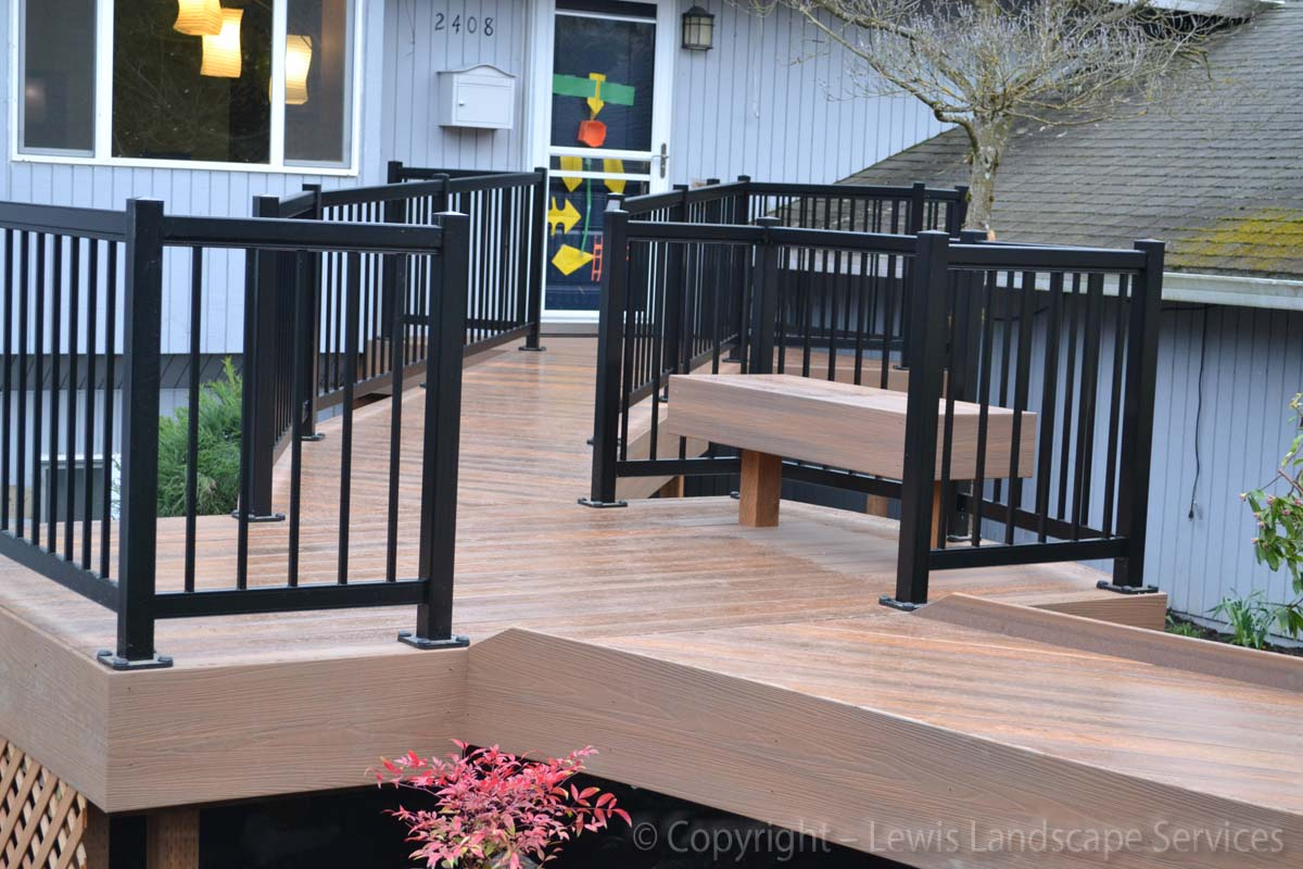 Custom Wheelchair Accessible Deck we built in SW Portland, Oregon area - deck builder