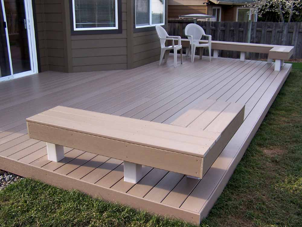 Trex Deck at one of our deck installations in Tigard, OR