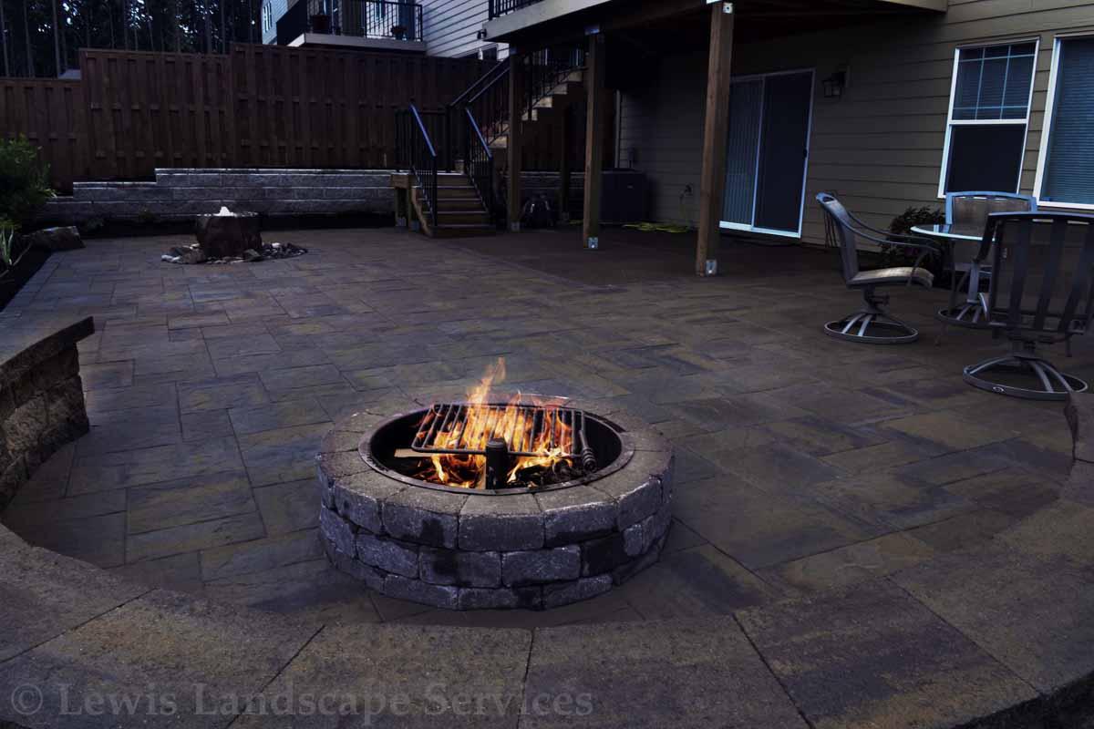 Round Block Wood Burning Fire Pit