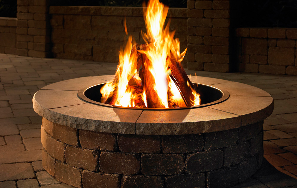 Block Round Wood Burning Fire Pit