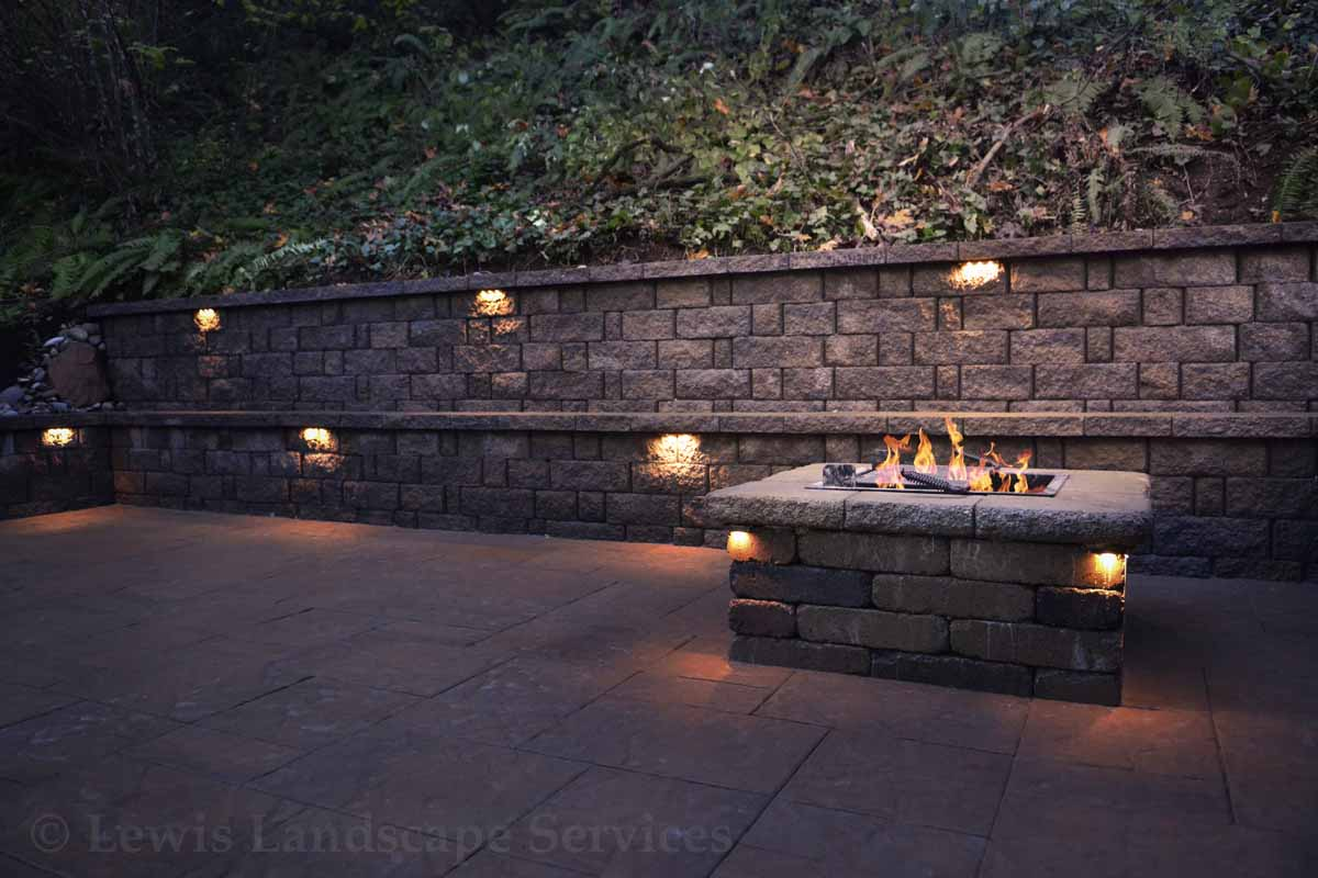 Square Block Wood Burning Fire Pit