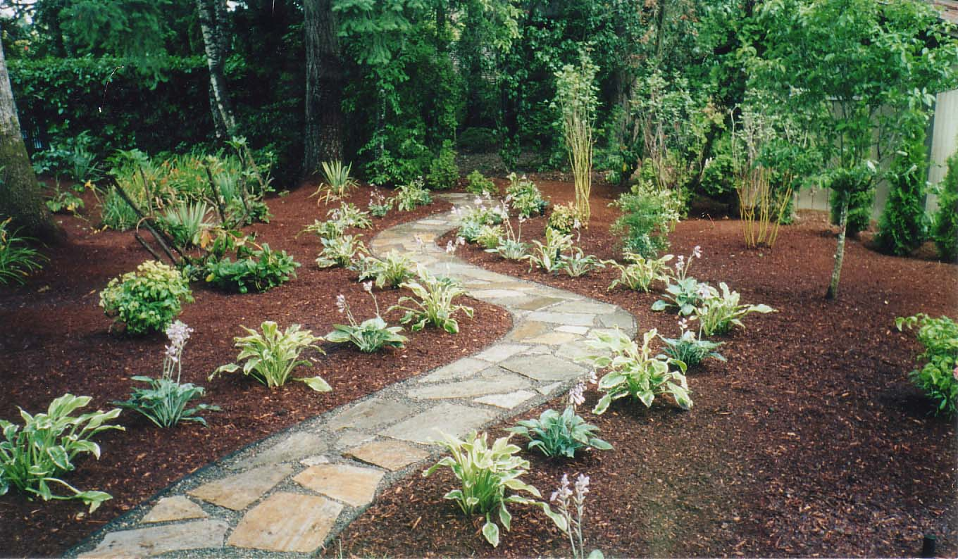 Solid Flagstone Pathway