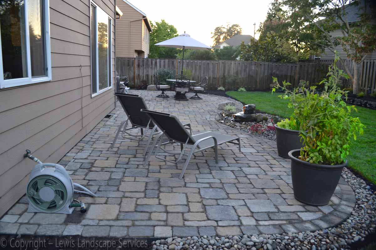 Back Yard Paver Patio & New Sod Lawn