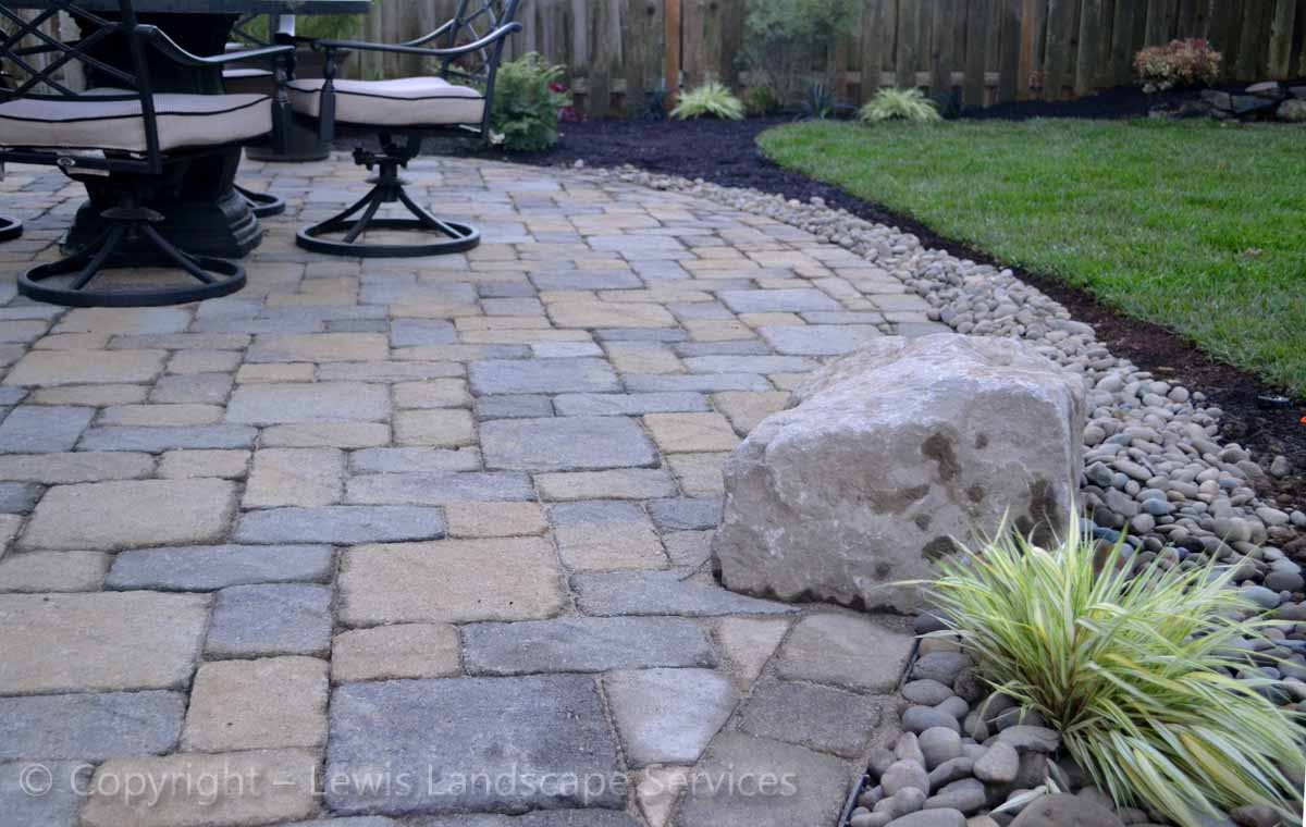 Back Yard Paver Patio Detail
