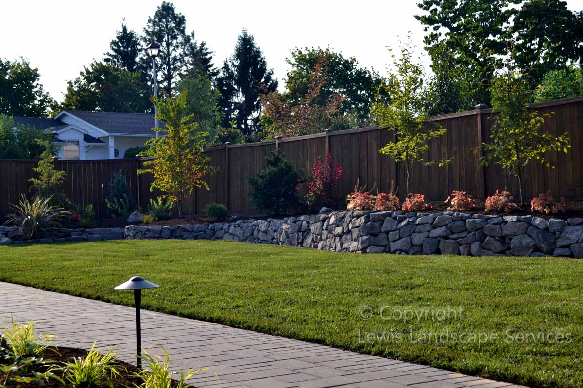 Full-landscapePaver Pathways, Basalt Rock Walls, New Sod Lawn, Plants & Treesprojects-johnson-project-summer-2012 008